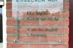 Naambord aan de muur